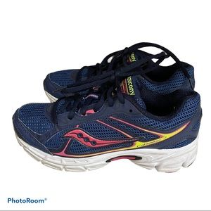 Saucony cohesion 7 size 6 blue pink running shoes